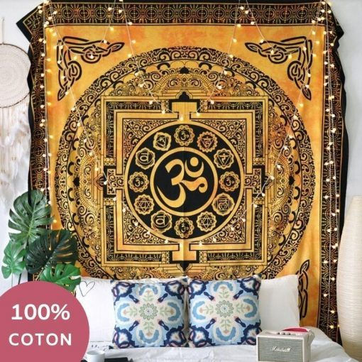 Wandbehang aus indischer Baumwolle